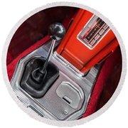 1963 Chevrolet Corvette Split Window Dash -155c Round Beach Towel