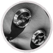 1963 Chevrolet Corvette Split Window Door Latch -292bw Round Beach Towel