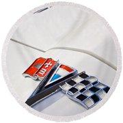 1963 Chevrolet Corvette Split Window Emblem -138c Round Beach Towel