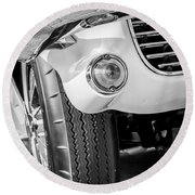 1963 Chevrolet Corvette Split Window Grille -209bw Round Beach Towel