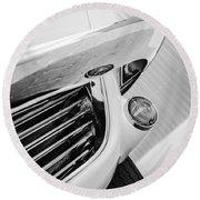 1963 Chevrolet Corvette Split Window Grille -221bw Round Beach Towel
