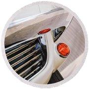 1963 Chevrolet Corvette Split Window Grille -221c Round Beach Towel