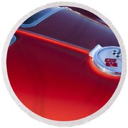 1963 Chevrolet Corvette Split Window Round Beach Towel