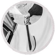 1963 Chevrolet Corvette Split Window Rear View Mirror -287bw Round Beach Towel