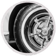 1963 Chevrolet Corvette Split Window Wheel -090bw Round Beach Towel