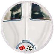1963 Chevrolet Corvette Split Window Wheel Emblem -118c Round Beach Towel