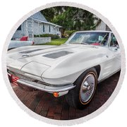 1963 Chevy Corvette Coupe Painted  Round Beach Towel
