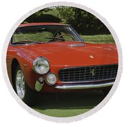 1963 Ferrari 250 Gt Lusso Round Beach Towel