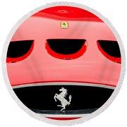 1963 Ferrari 250 Gto Grille Emblem -1753c Round Beach Towel