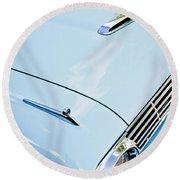 1963 Ford Falcon Futura Convertible Hood Round Beach Towel by Jill Reger