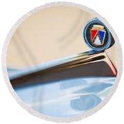 1963 Ford Falcon Futura Convertible  Hood Ornament Round Beach Towel