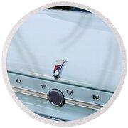 1963 Ford Falcon Futura Convertible  Rear Emblem Round Beach Towel by Jill Reger