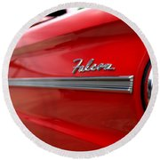 1963 Ford Falcon Name Plate Round Beach Towel