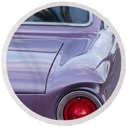 1963 Ford Falcon Tail Light Round Beach Towel