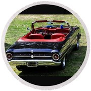 1963 Ford Futura Convertible Round Beach Towel