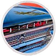 1963 Ford Galaxie 500xl Taillight Emblem Round Beach Towel