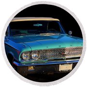 1963 Ford Galaxy Round Beach Towel