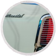 1963 Lincoln Continental Taillight Emblem -0905bw Round Beach Towel