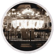 1964 Allan Herschell Carousel Round Beach Towel