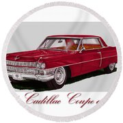 1964 Cadillac Coupe De Ville Round Beach Towel