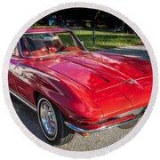 1964 Chevy Corvette Coupe  Round Beach Towel