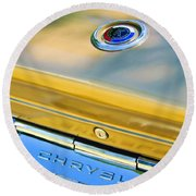 1964 Chrysler 300k Convertible Emblem -3529c Round Beach Towel
