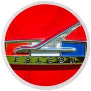 1964 Ford Falcon Emblem Round Beach Towel