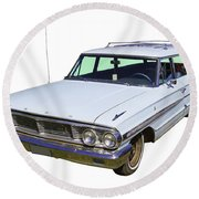 1964 Ford Galaxy Country Sedan Stationwagon Round Beach Towel