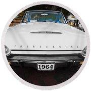 1964 Ford Thunderbird Painted Round Beach Towel
