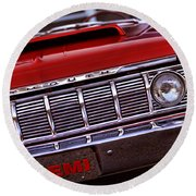 1964 Plymouth Savoy Round Beach Towel
