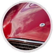1964 Shelby 289 Cobra Grille -0840c Round Beach Towel