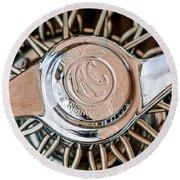 1964 Shelby 289 Cobra Wheel Emblem -0666c Round Beach Towel