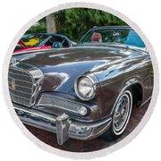 1964 Studebaker Golden Hawk Gt Painted Round Beach Towel