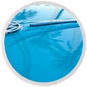 1964 Volkswagen Vw Bug Emblem Round Beach Towel