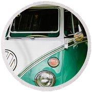 1964 Volkswagen Vw Samba 21 Window Bus Round Beach Towel