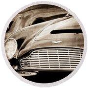 1965 Aston Martin Db6 Short Chassis Volante Grille Round Beach Towel