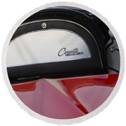 1965 Chevrolet Corvette Dashboard Emblem Round Beach Towel
