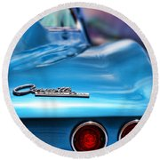 1965 Chevrolet Corvette Stingray Round Beach Towel