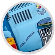 1965 Fiat Taillight Round Beach Towel