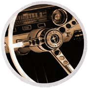 1965 Ford Mustang  Round Beach Towel