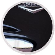 1965 Ford Mustang Gt 289 Emblem -0309c Round Beach Towel