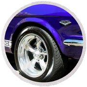 1965 Ford Mustang Gt350 Muscle Car Round Beach Towel