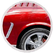 1965 Ford Mustang Really Red Round Beach Towel