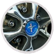 1965 Ford Mustang Wheel Rim Round Beach Towel