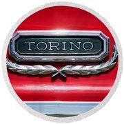 1965 Ford Torino Emblem Round Beach Towel