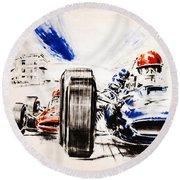 1965 Grand Prix De Paris Round Beach Towel