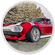 1965 Grand Sport Sebring  Round Beach Towel