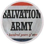 1965 Salvation Army Stamp Round Beach Towel
