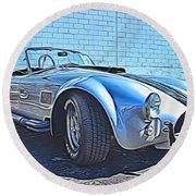 1965 Shelby Cobra- 1 Round Beach Towel