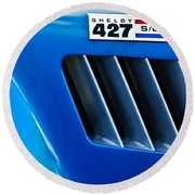 1965 Shelby Cobra 427 Emblem Round Beach Towel